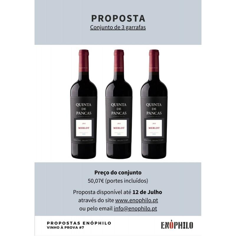 Quinta de Pancas tinto 2016 Merlot Special Selection (Pack 3 Gfs)