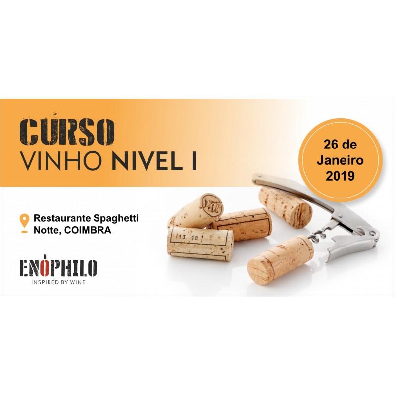Curso de Vinho - Nível I (Coimbra): 26 de Janeiro de 2019