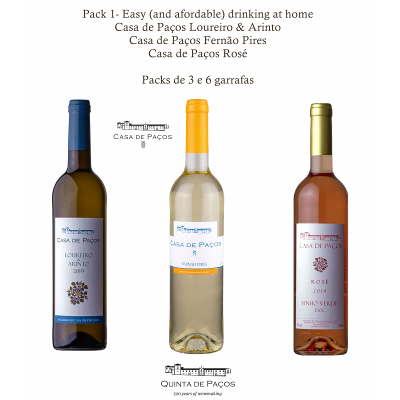 Quinta de Paços - Easy (and afordable) drinking at home (3 Gfs)