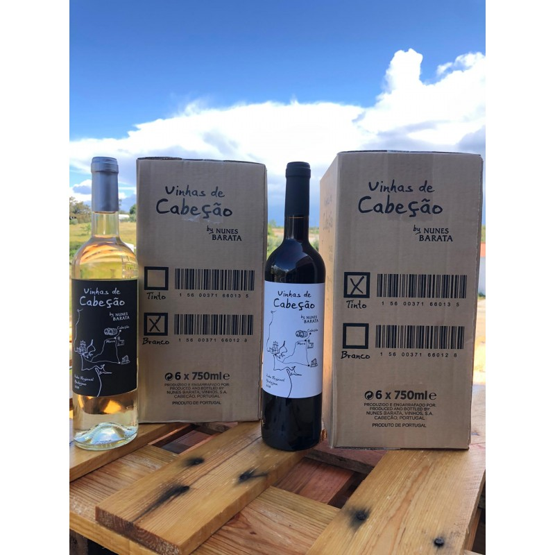 Nunes Barata - Pack Vinhas de Cabeção Branco + Tinto (12 garrafas)